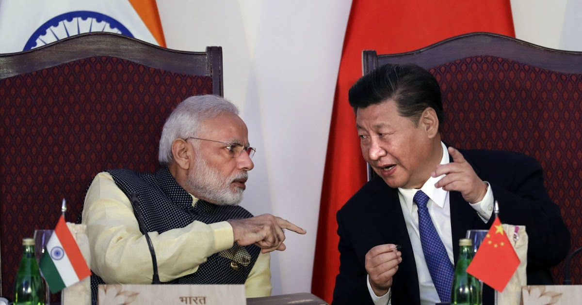 Indian Prime Minister Narendra Modi and chinese President Xi Jinping