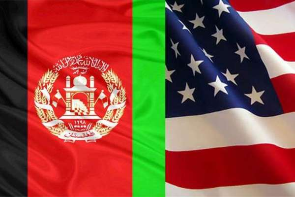 Aghanistan and US flags