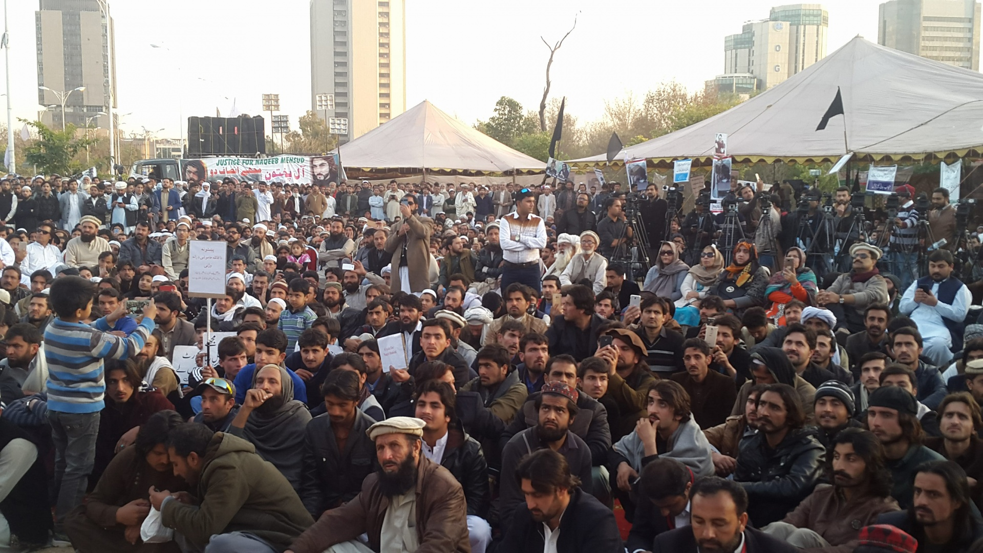 the Pashtun Long March sit-in