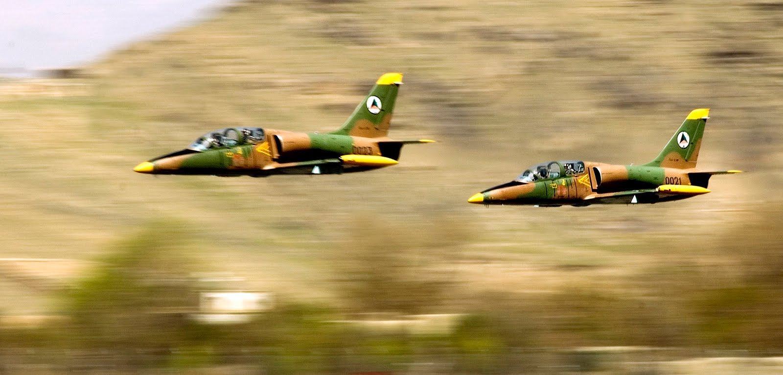 Afghan National Air Corps L-39 Albatross jets