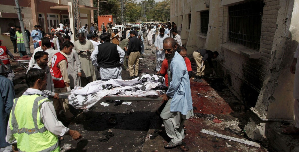 bomb blast in quetta civil hospital
