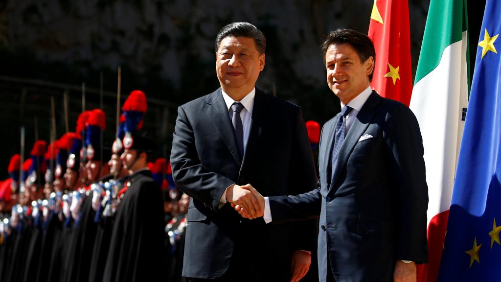 xi jin ping and giuseppe conte