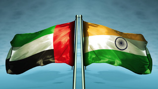 India and UAE flags