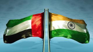 India and UAE flags