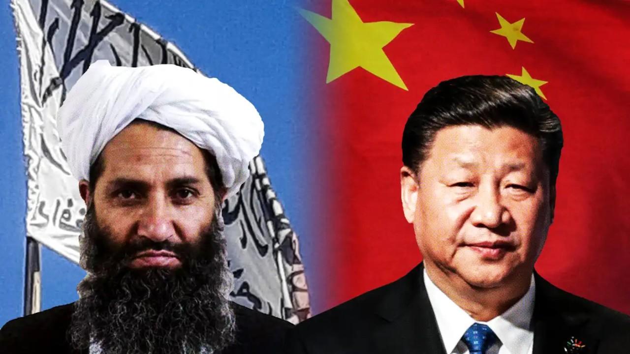 Mullah Haibatullah Akhundzada (left)  Xi Jinping (right)