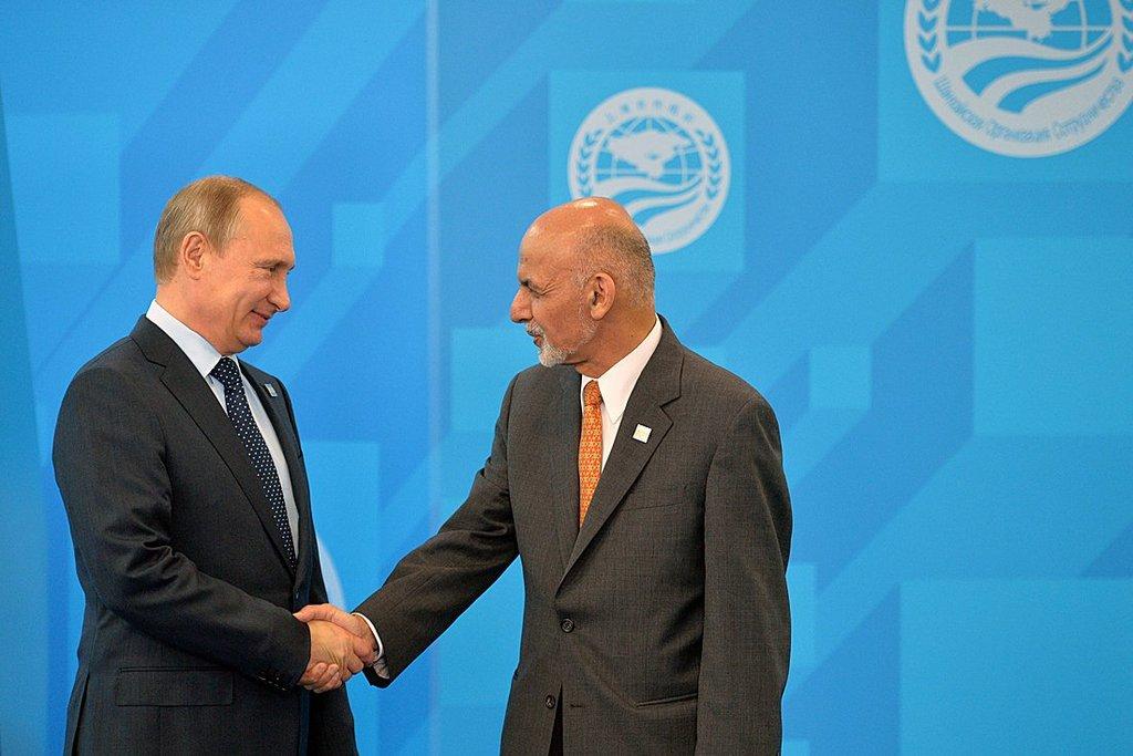 Vladimir Putin with President of Afghanistan Ashraf Ghani