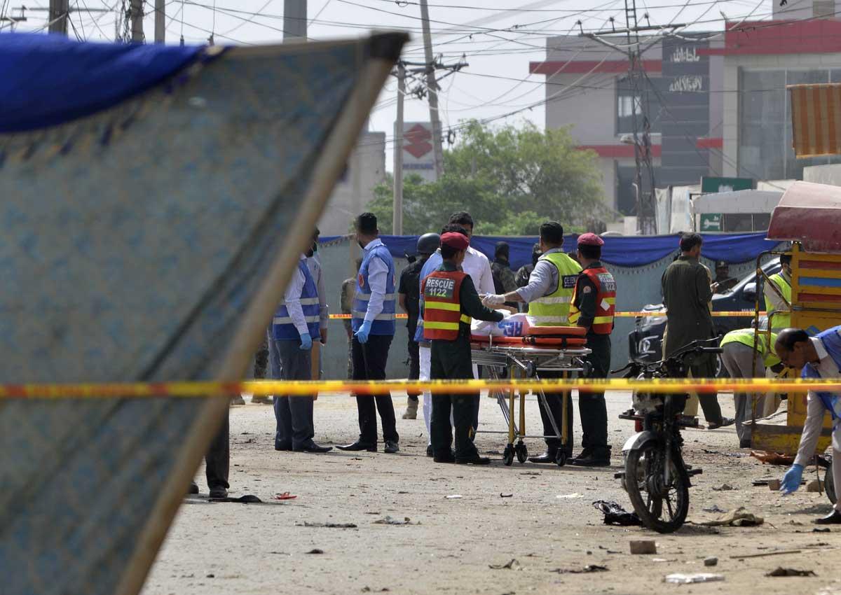 The attack on census escorting team in Lahore, Punjab