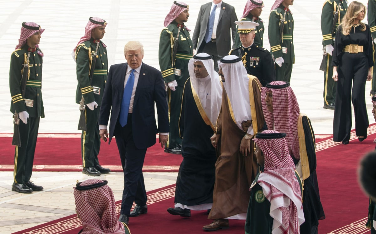 President Trump during his visit in Saudi Arabia